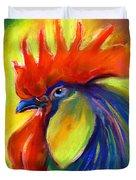 Rooster Painting Duvet Cover by Svetlana Novikova