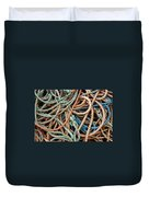 Rope Background Duvet Cover by Carlos Caetano