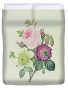Rose Duvet Cover by Pierre Joseph Redoute