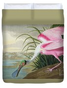 Roseate Spoonbill Duvet Cover by John James Audubon