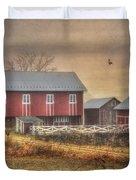 Route 419 Barn Duvet Cover by Lori Deiter