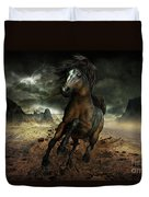 Run Like the Wind Duvet Cover by Shanina Conway