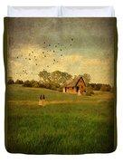 Rural Cottage Duvet Cover by Jill Battaglia