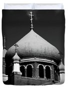 Russian Orthodox Church Bw Duvet Cover by Karol  Livote