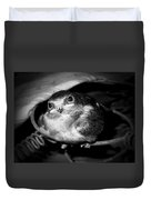 Rusted Perch - Baby Barn Swallow  Duvet Cover by Christena  Stephens