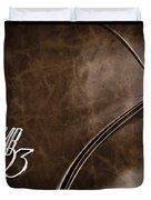 Saab 93 Emblem Raw Hide Leather Duvet Cover by Edward Fielding