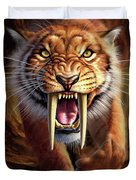 Sabertooth Duvet Cover by Jerry LoFaro