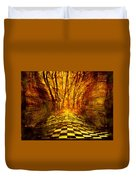 Sacred Temple of the Trees Duvet Cover by Jenny Rainbow
