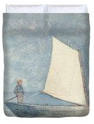 Sailing a Dory Duvet Cover by Winslow Homer