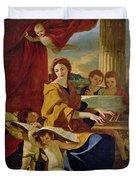 Saint Cecilia Duvet Cover by Nicolas Poussin
