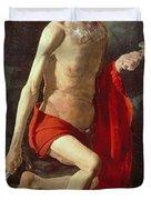 Saint Jerome Duvet Cover by Georges de la Tour
