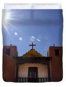 Saint Jeromes Chapel Taos Pueblo Duvet Cover by Kurt Van Wagner