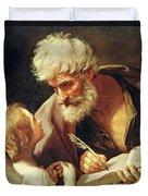 Saint Matthew Duvet Cover by Guido Reni