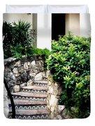 San Antonio Stairway Duvet Cover by Will Borden