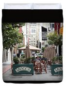 San Francisco - Maiden Lane - Outdoor Lunch At Mocca Cafe - 5d17932 Duvet Cover by Wingsdomain Art and Photography