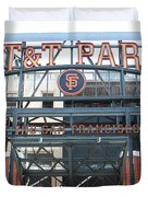 San Francisco Giants ATT Park Willie Mays Entrance . 7D7635 Duvet Cover by Wingsdomain Art and Photography