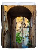 San Gimignano Archway Duvet Cover by Inge Johnsson