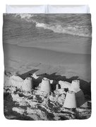 SAND CASTLES BY THE SHORE Duvet Cover by ROB HANS