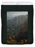 Sandia Peak Cable Car Duvet Cover by Joe Kozlowski