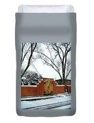 Santa Fe Residential Street Scene Duvet Cover by Diana Dearen