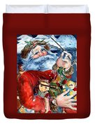 Santa Duvet Cover by Mindy Newman