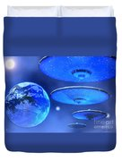 Saucers Duvet Cover by Corey Ford