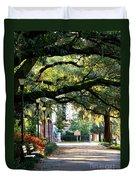 Savannah Park Sidewalk Duvet Cover by Carol Groenen