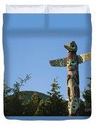 Saxman Totem Park Duvet Cover by Greg Vaughn - Printscapes