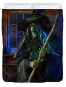 Scary Old Witch Duvet Cover by Oleksiy Maksymenko