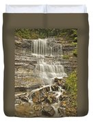 Scenic Alger Falls  Duvet Cover by Michael Peychich
