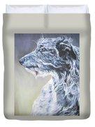 Scottish Deerhound Duvet Cover by Lee Ann Shepard