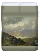 Scottish Landscape Duvet Cover by Gustave Dore