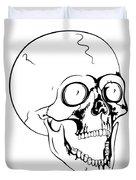 Screaming Skull Duvet Cover by Michal Boubin