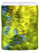 Sea Breeze Mosaic Abstract Art Duvet Cover by Christina Rollo
