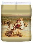Sea Horses Duvet Cover by Frederick Morgan