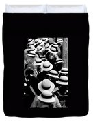 Sea Of Hats Duvet Cover by Avalon Fine Art Photography