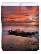 Sea of Red Duvet Cover by Mike  Dawson