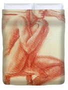 Seated At The Barre Duvet Cover by Sarah Parks