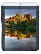 Sedona Sunset Duvet Cover by Mike  Dawson