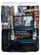 SELF AT SUBWAY STAIRS Duvet Cover by ROB HANS