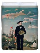 Self Portrait From Lile Saint Louis Duvet Cover by Henri Rousseau