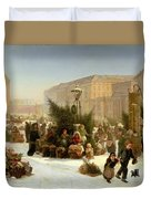 Selling Christmas Trees Duvet Cover by David Jacobsen