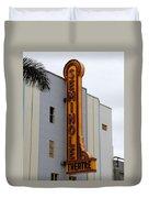 Seminole Theatre 1940 Duvet Cover by David Lee Thompson