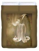 Sepia Bluebell Duvet Cover by Meirion Matthias