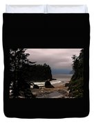 Serene And Pure - Ruby Beach - Olympic Peninsula Wa Duvet Cover by Christine Till