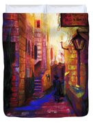 Shabbat Shalom Duvet Cover by Talya Johnson