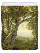 Shandaken Ridge - Kingston Duvet Cover by Asher Brown Durand