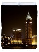 Shanghai's Bund Is Back To Its Best Duvet Cover by Christine Till