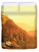Shawanagunk Mountains Duvet Cover by Jervis McEntee