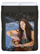She Paints With Stars Duvet Cover by J W Baker